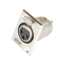 Conector Cannon XLR Fêmea Painel Q 89 - CSR
