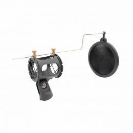 CSRS1 - Kit Suporte Antiestático p/ Microfone + Anti-Puff CSR S1 - CSR