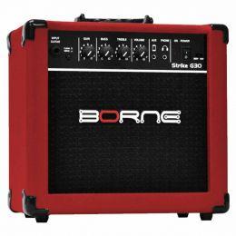 G30 - Amplificador Combo p/ Guitarra Strike G 30 Vermelho - Borne