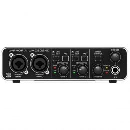 Interface de Áudio 2 IN x 2 OUT c/ USB U-PHORIA UMC202HD - Behringer