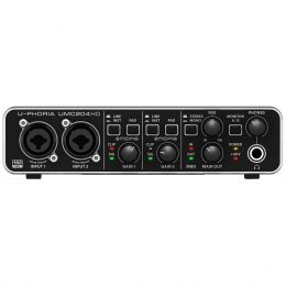 Interface de Áudio 2 IN x 4 OUT c/ USB U-PHORIA UMC204HD - Behringer