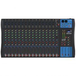 Mesa de Som 17 Canais Balanceados (15 XLR + 2 P10) c/ USB / Efeito / Phantom / 1 Auxiliar - LMG 1701 U Lyco