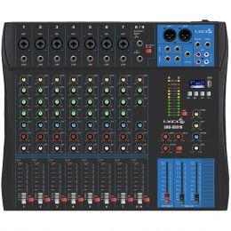 Mesa de Som 9 Canais Balanceados (7 XLR + 2 P10) c/ USB Play / Efeito / Phantom / 1 Auxiliar - LMG 0901 U Lyco