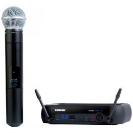 Microfone s/ Fio de Mão - PGXD 24BR / SM58 Shure
