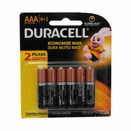Pilha Alcalina Palito AAA Leve 6 Pague 4 MN240086 - Duracell