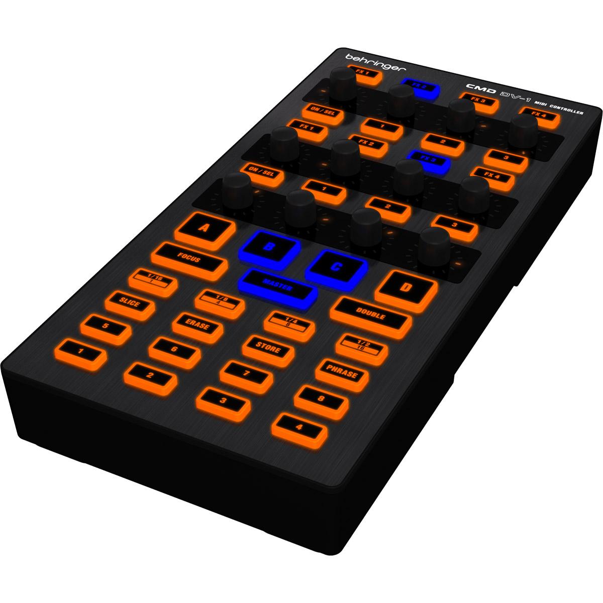 CMDDV1 - Controladora Midi USB DJ CMD DV 1 - Behringer