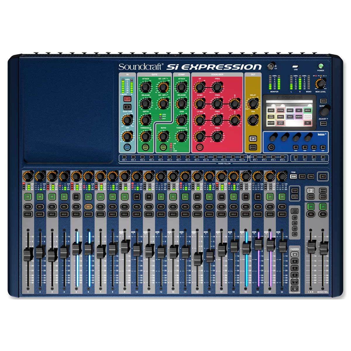 SiExpression2 - Mesa de Som / Mixer Digital 24 Canais 14 Auxiliares Si Expression 2 - Soundcraft
