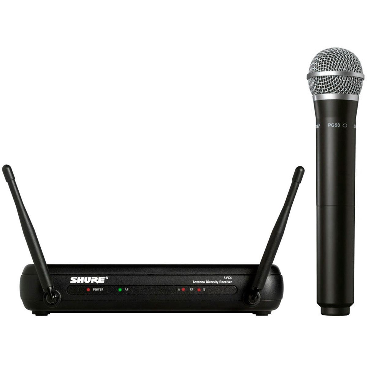 SVX24BRPG58 - Microfone s/ Fio de M�o UHF SVX 24BR PG58 - Shure