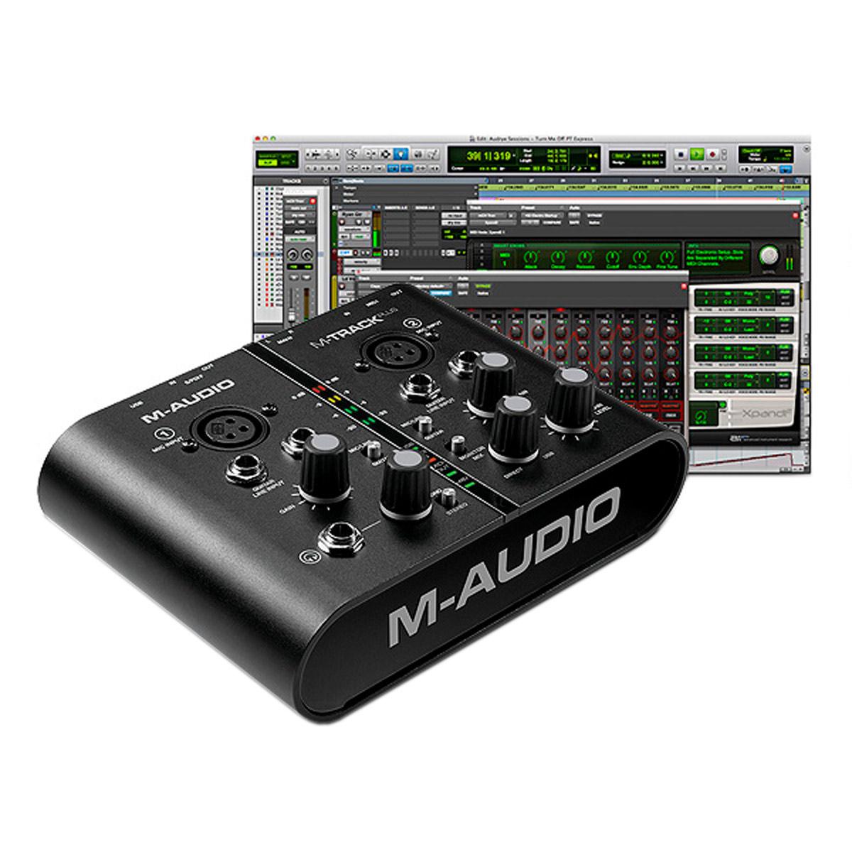 MTrackPlus - Placa de Som Externa USB M Track Plus - M-Audio