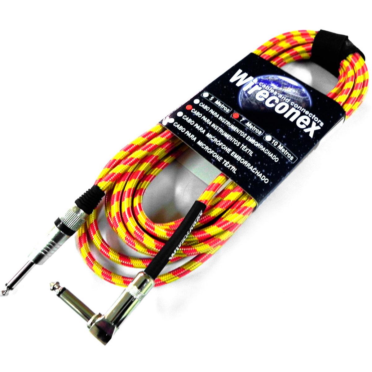 Cabo T�xtil 7Mt P10 M / P10 M Cachimbo Mono - Wireconex