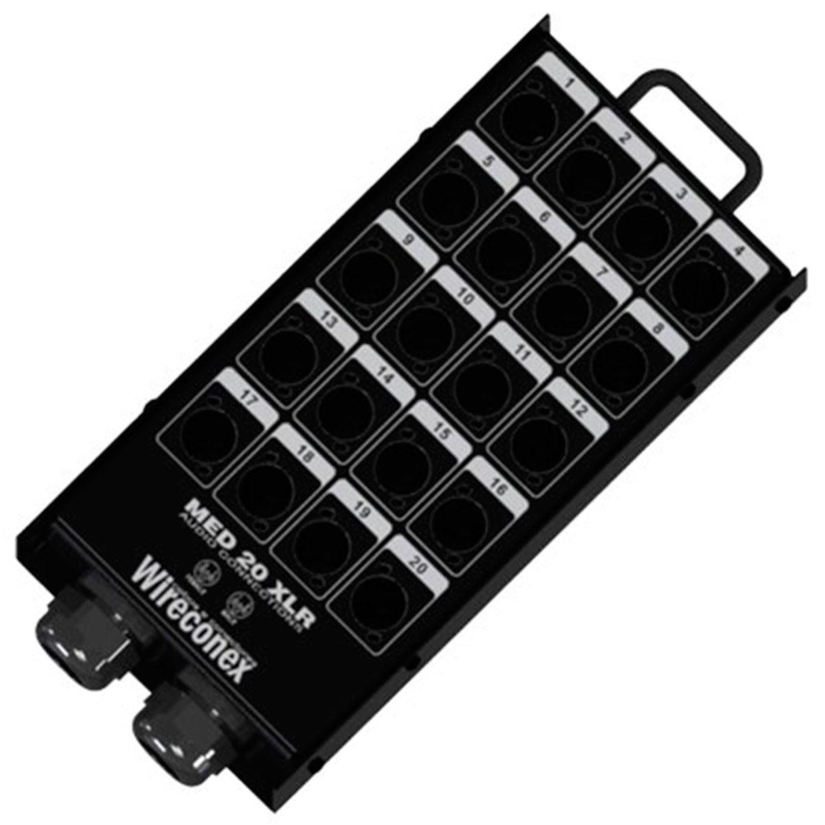Painel sem Conectores 20 Furos 2 Prensas - Wireconex