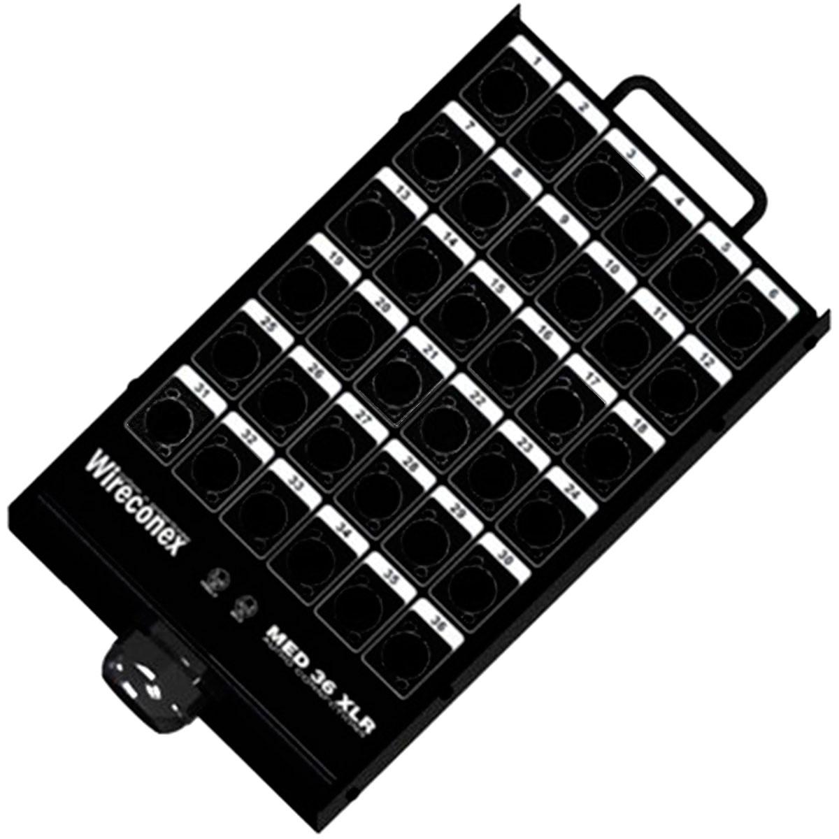 Painel sem Conectores 36 Furos 1 Prensa - Wireconex