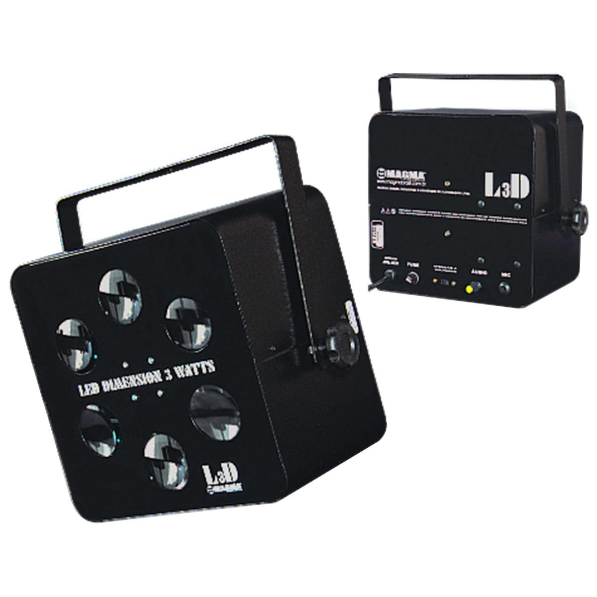 L3D - LED Dimension 3W RGB R�tmico L 3 D - Magma