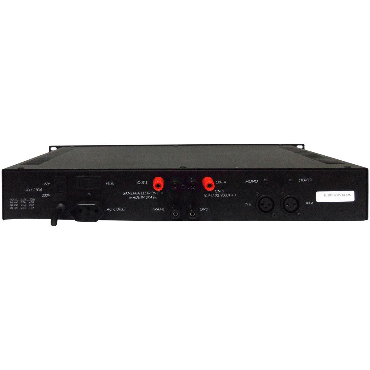SL100 - Amplificador de Linha Mono 100W SL 100 - Sansara