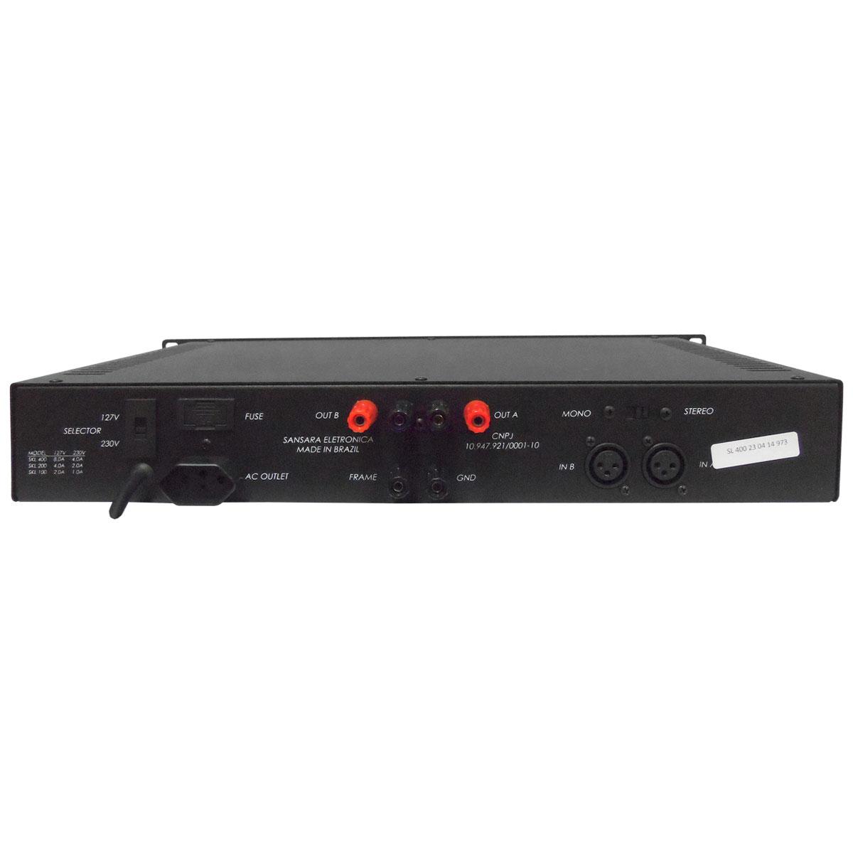 SL400 - Amplificador de Linha Mono / Estéreo 400W SL 400 - Sansara