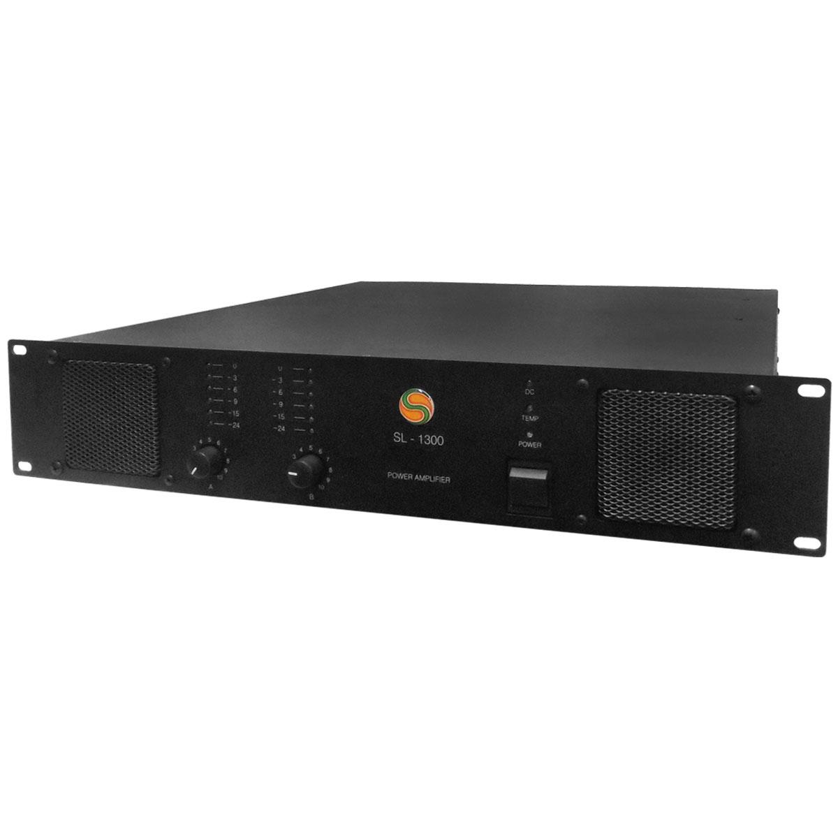 SL1300 - Amplificador de Linha Est�reo 1200W SL 1300 - Sansara