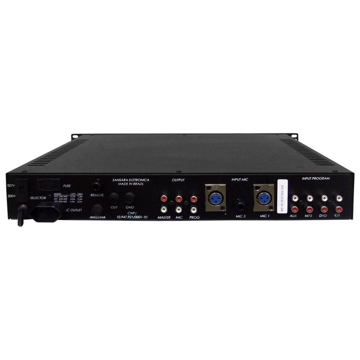 SPG300 - Pr� Amplificador c/ Chamada e Gongo SPG 300 - Sansara
