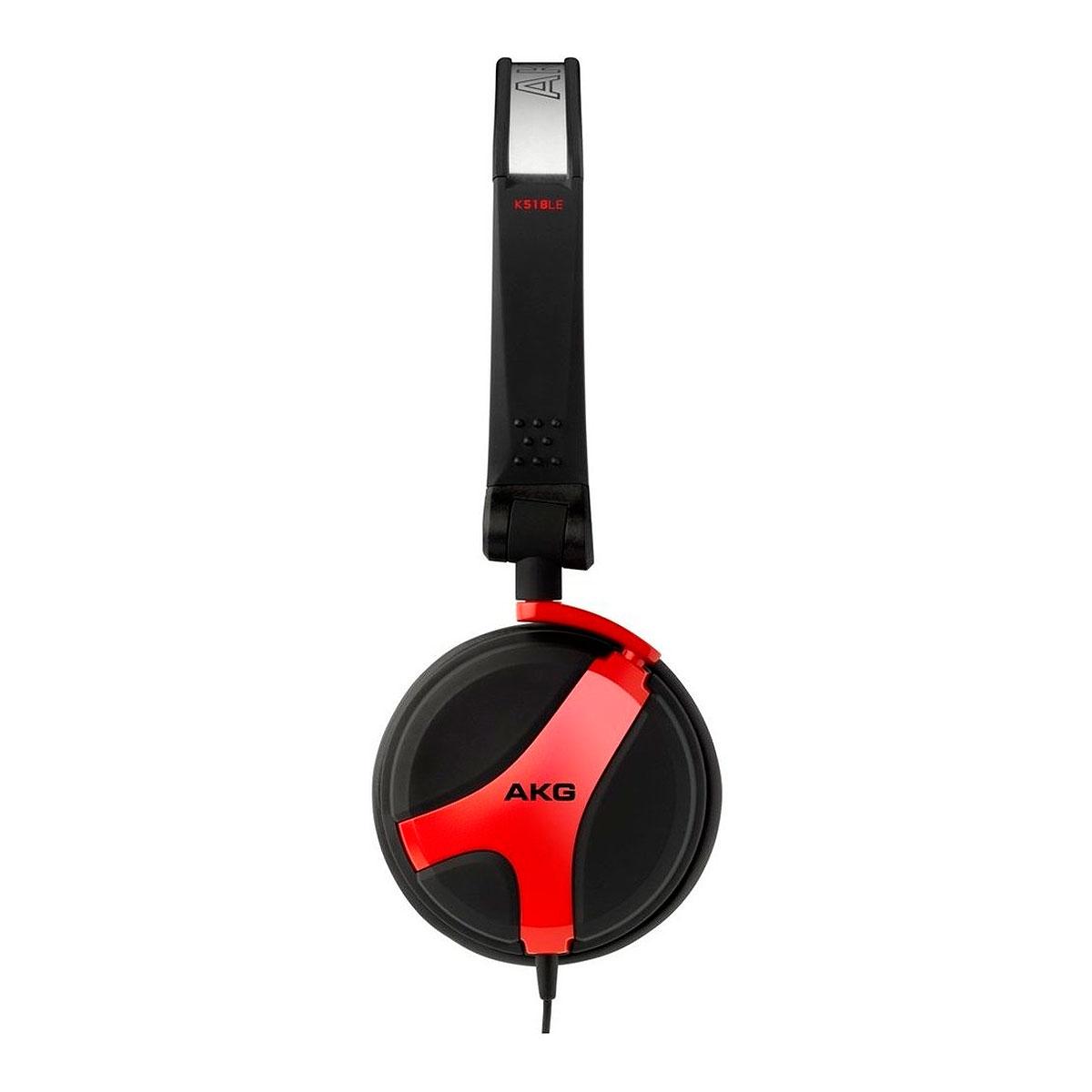 K518LE - Fone de Ouvido Over-ear Vermelho K 518 LE - AKG