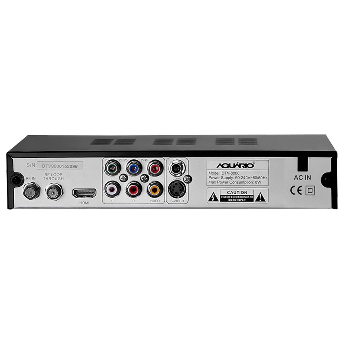 DTV 8000 - Conversor e Gravador Digital de TV Full HD DTV8000 Aquário