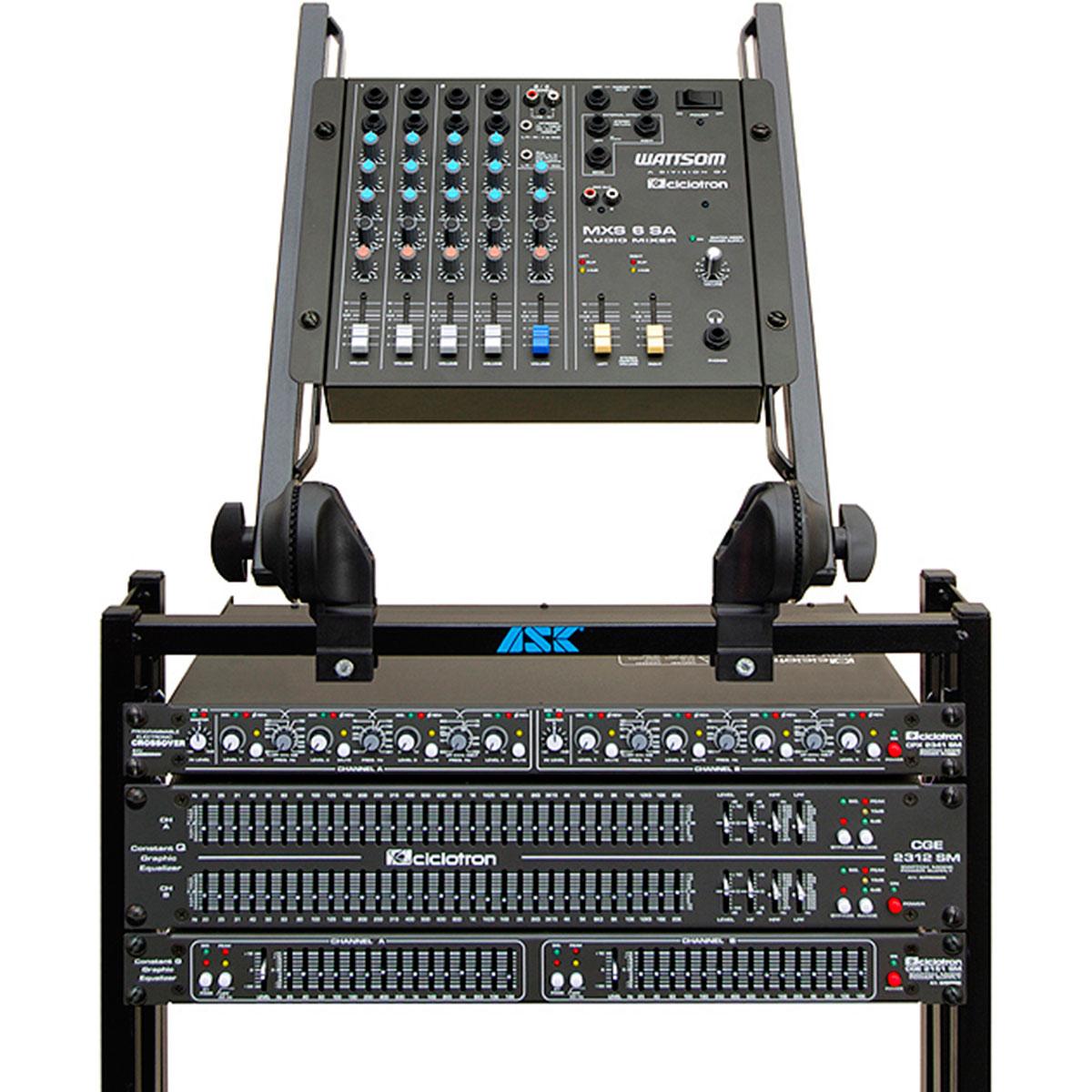 Mesa de Som 6 Canais (4 P10 Desbalanceados + RCA) c/ 1 Auxiliar - MXS 6 SA Ciclotron