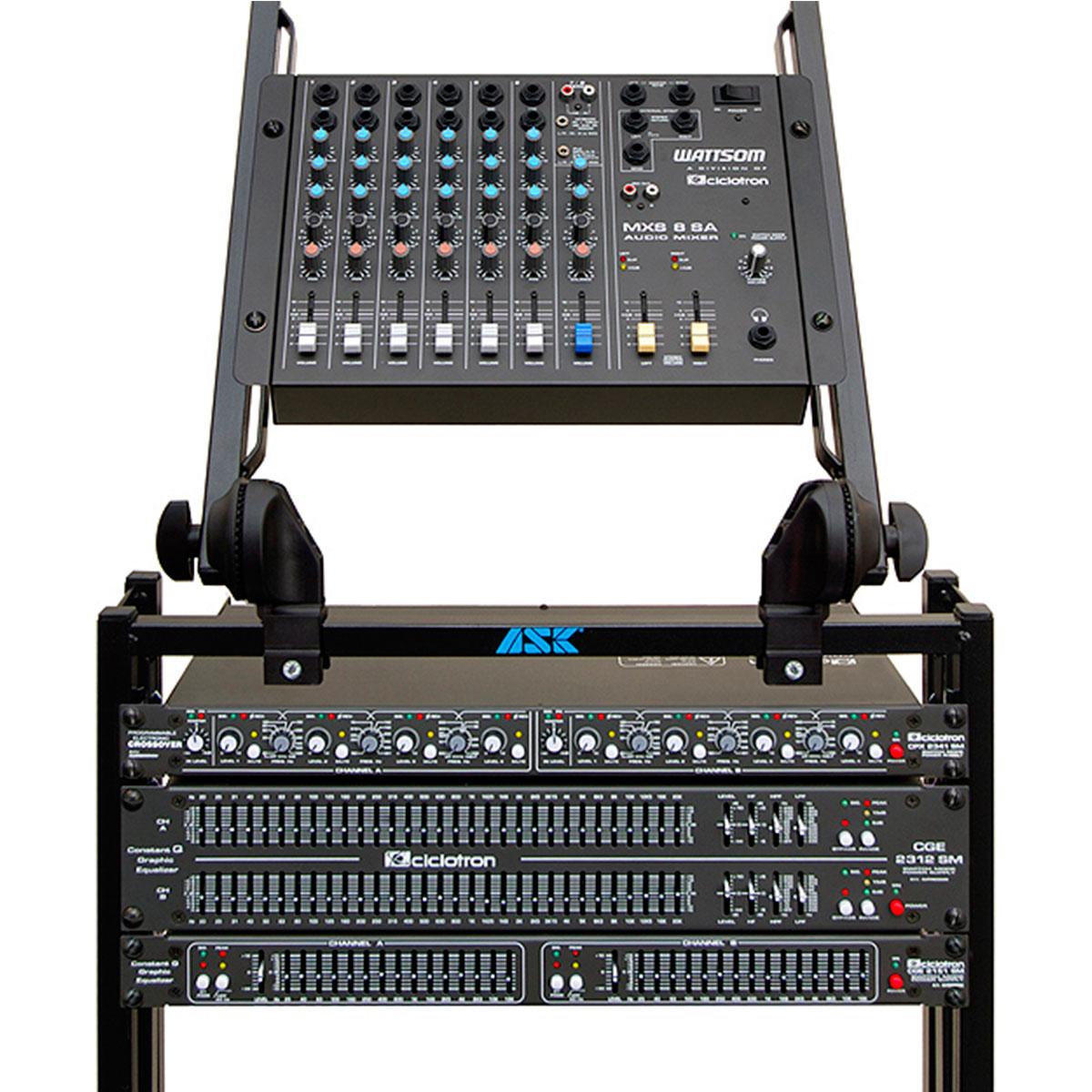 MXS8SA - Mesa de Som / Mixer 8 Canais MXS 8 SA - Ciclotron