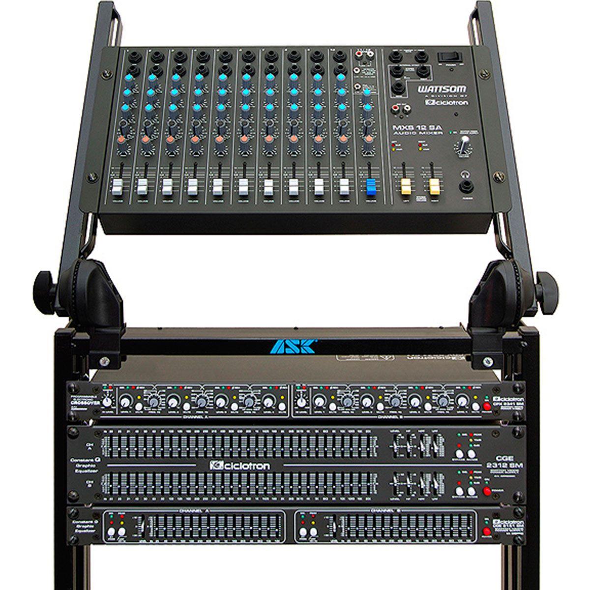 MXS12SA - Mesa de Som / Mixer 12 Canais MXS 12 SA - Ciclotron