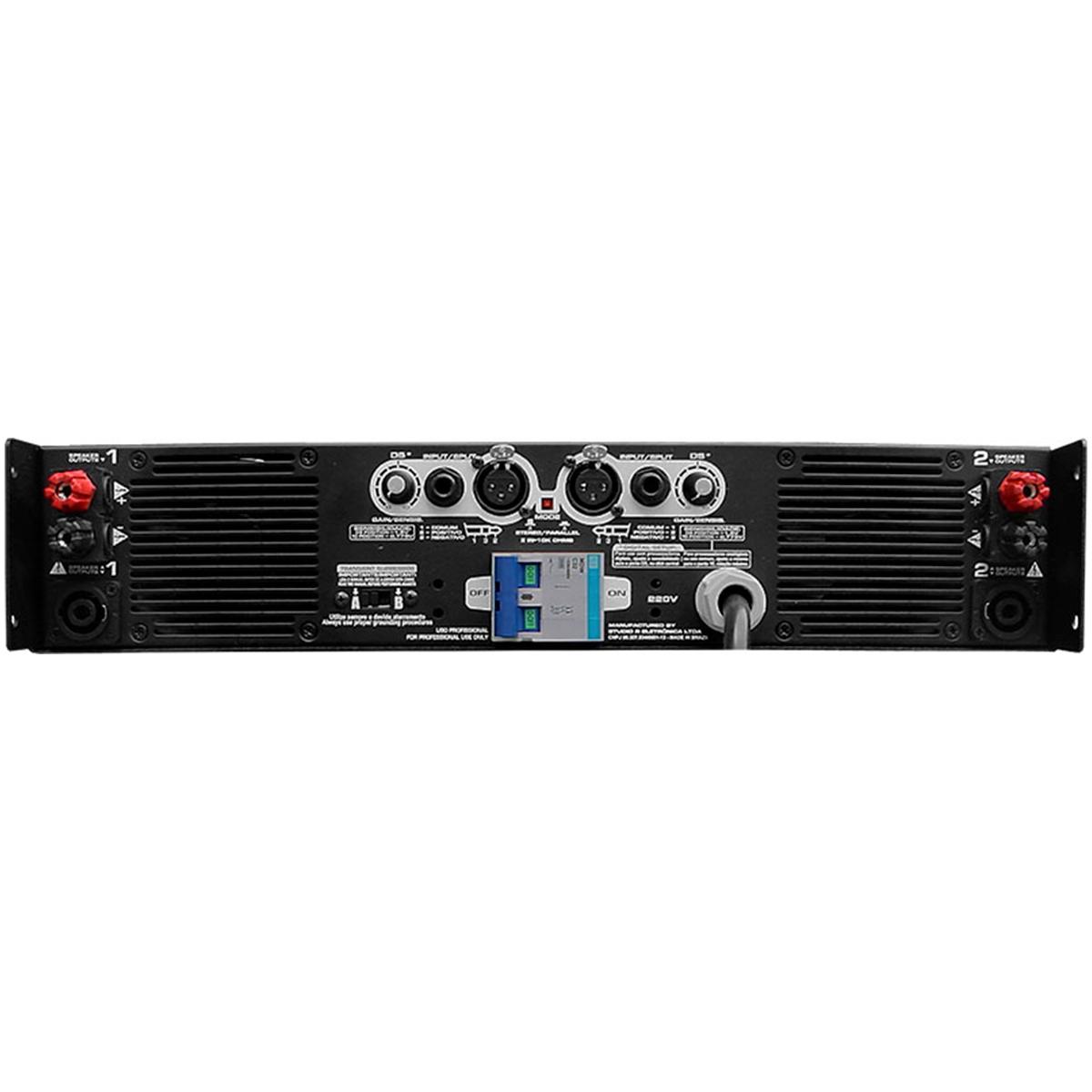 X1 - Amplificador Estéreo 2 Canais 1200W X1 Studio R