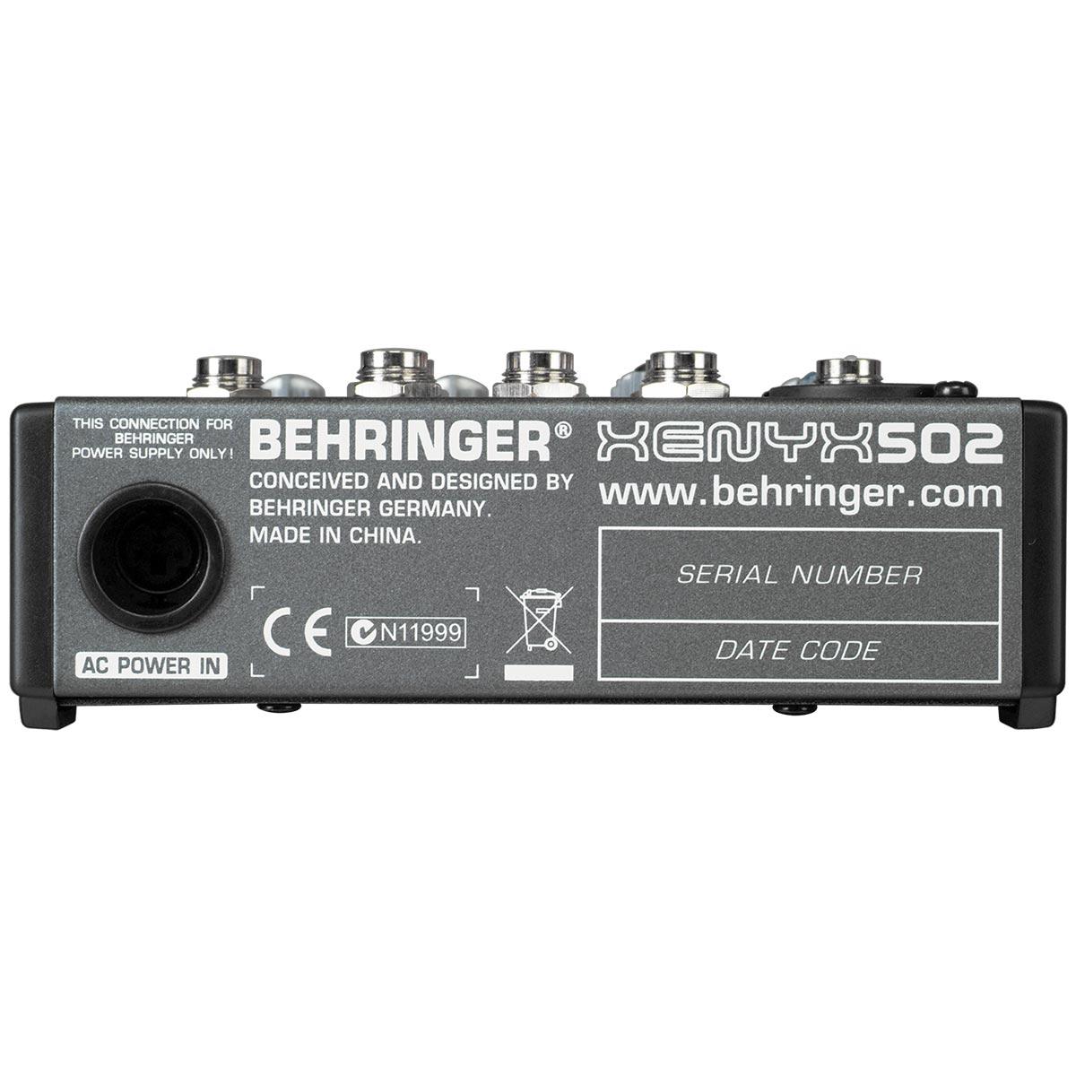 Xenyx502 - Mesa de Som / Mixer 5 Canais Xenyx 502 - Behringer