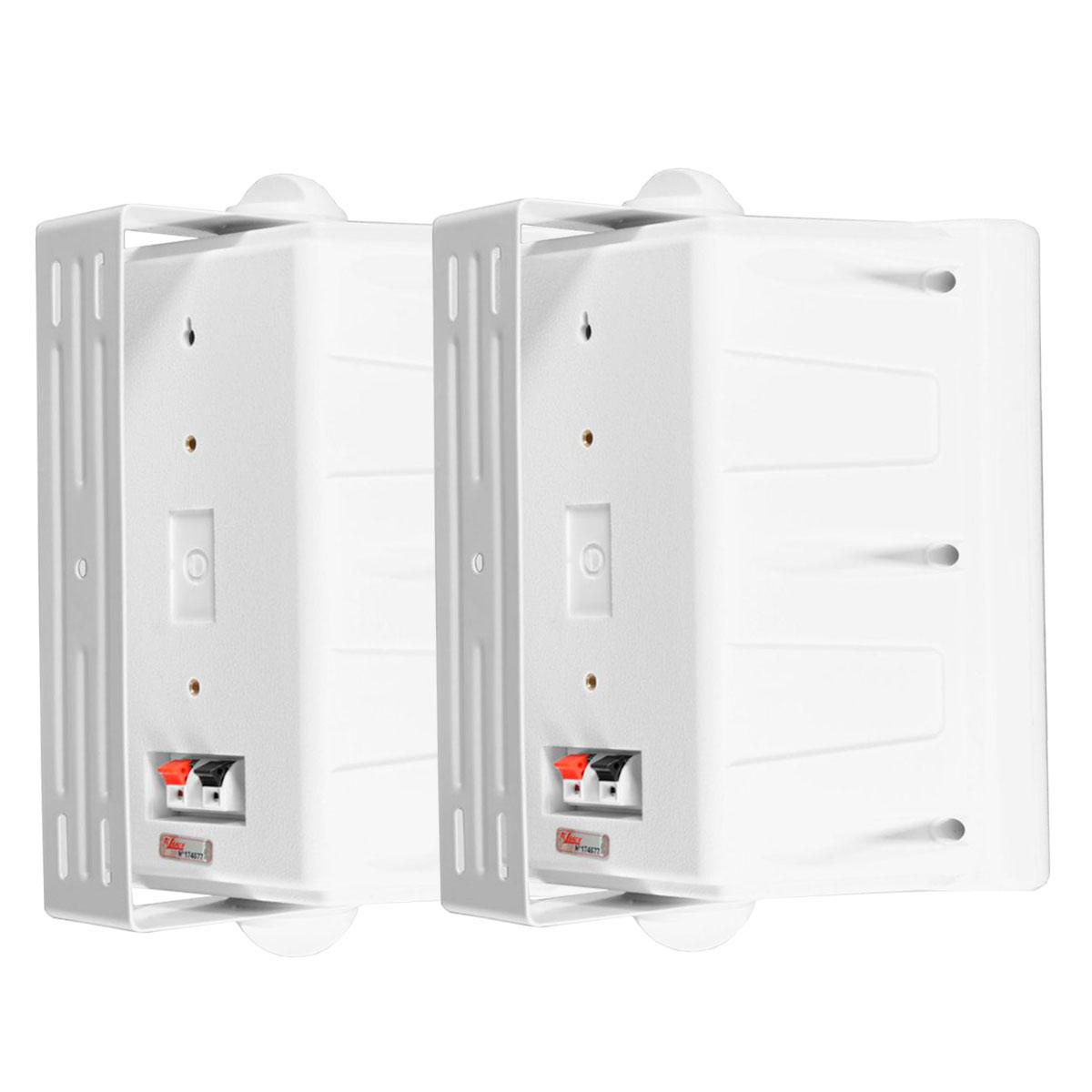 IT65 - Caixa Passiva 75W Branca c/ Suporte ( Par ) IT 65 - Leacs