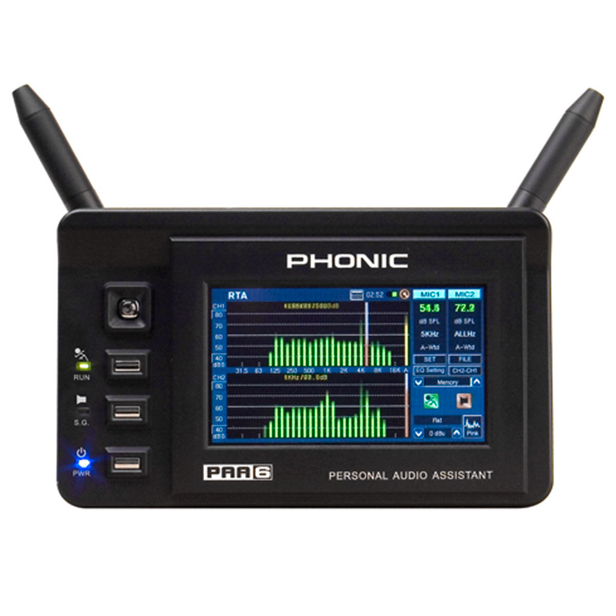PAA6 - Analisador de Áudio 2 Canais c/ USB PAA 6 - Phonic