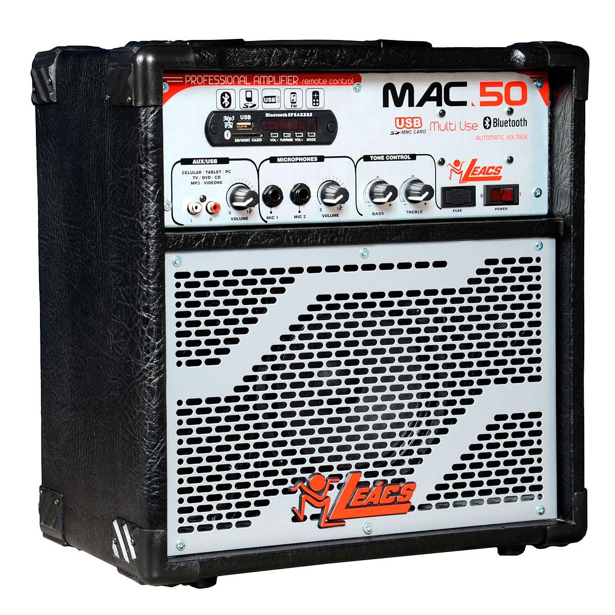 MAC50 - Cubo Multiuso Ativo 30W c/ Bluetooth e USB MAC 50 - Leacs