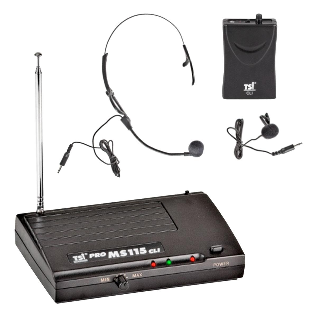 Microfone s/ Fio Headset / Lapela / VHF - MS 115 CLI TSI