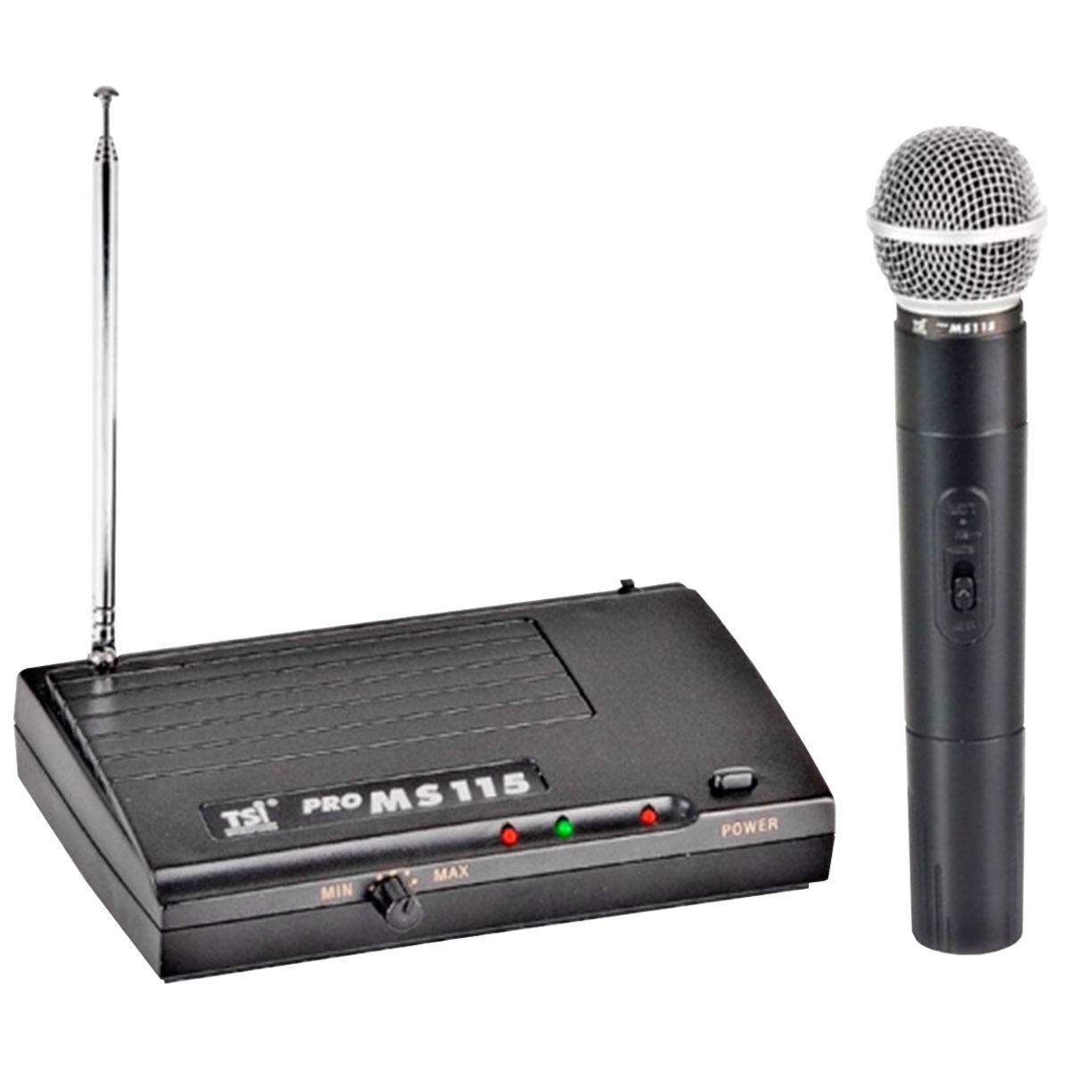 MS115 - Microfone s/ Fio de M�o VHF MS 115 - TSI