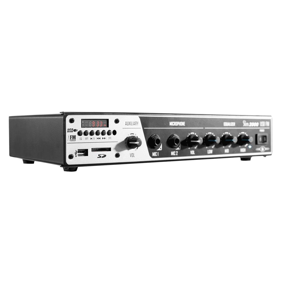 Slim2000USB - Amplificador Mono 120W Slim 2000 USB - Frahm