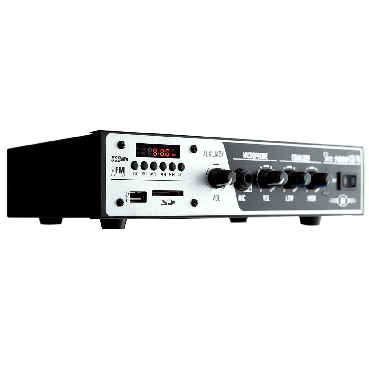 Slim1000USB - Amplificador Mono 30W Slim 1000 USB - Frahm