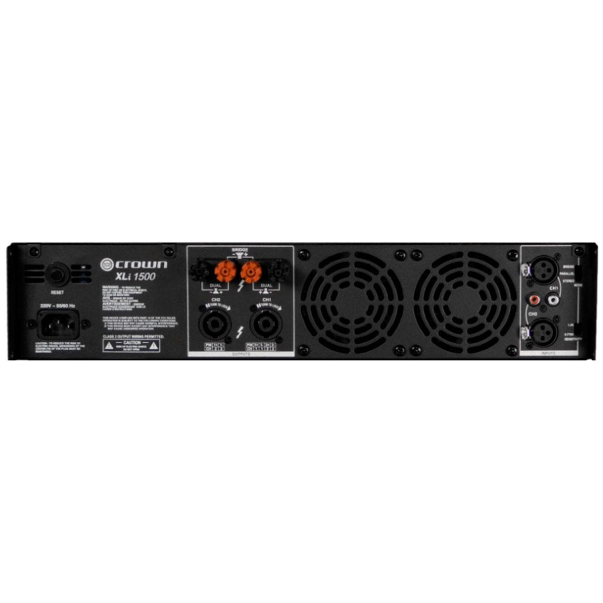 XLI1500 - Amplificador Estéreo 2 Canais 900W XLI 1500 - Crown