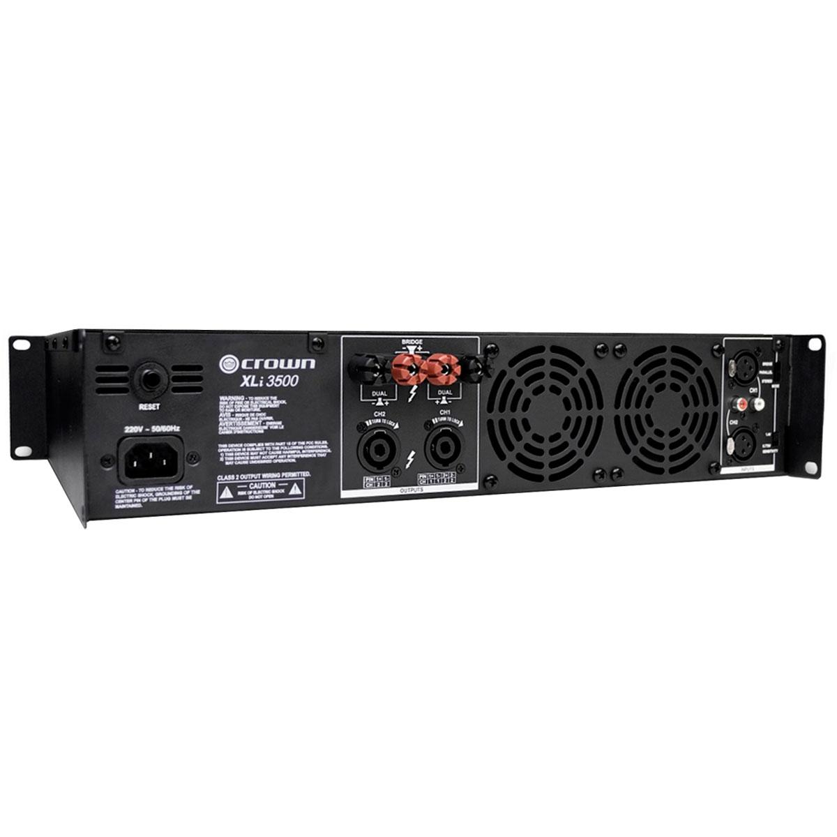 XLI3500 - Amplificador Estéreo 2 Canais 2700W XLI 3500 - Crown