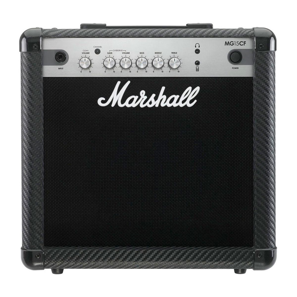 MG15CF - Amplificador Combo p/ Guitarra Carbon Fiber MG 15 CF - Marshall