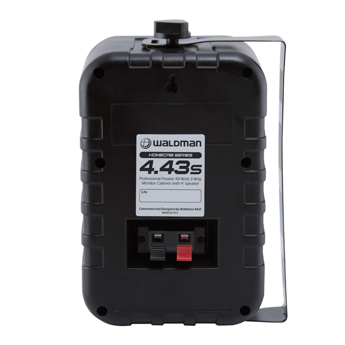 443sBK - Caixa Passiva 40W Preta c/ Suporte ( Par ) Homecab 4 43 S WH - Waldman