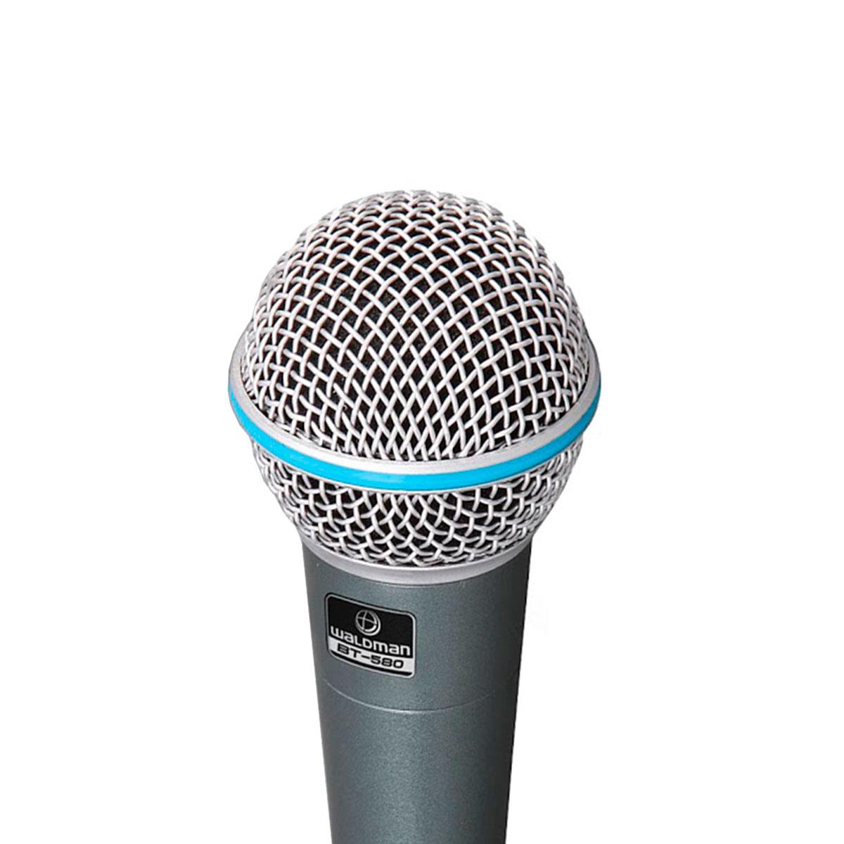 BT5803P - Kit 3 Microfones c/ Fio de Mão BT 580 3P - Waldman
