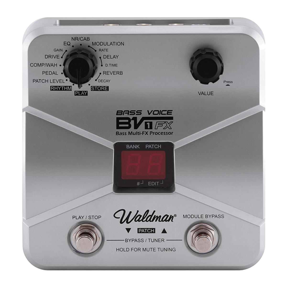 BV1FX - Pedaleira Contrabaixo Bass Voice BV 1 FX - Waldman
