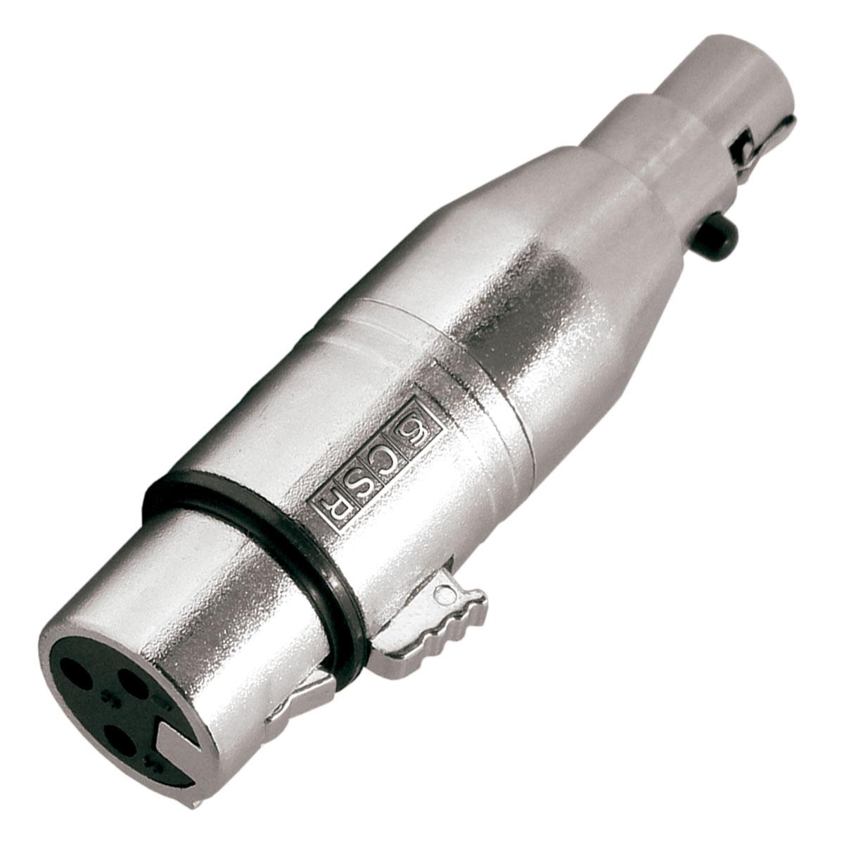 Adaptador Mini XLR F x XLR F 3 Pinos CSR508 - CSR