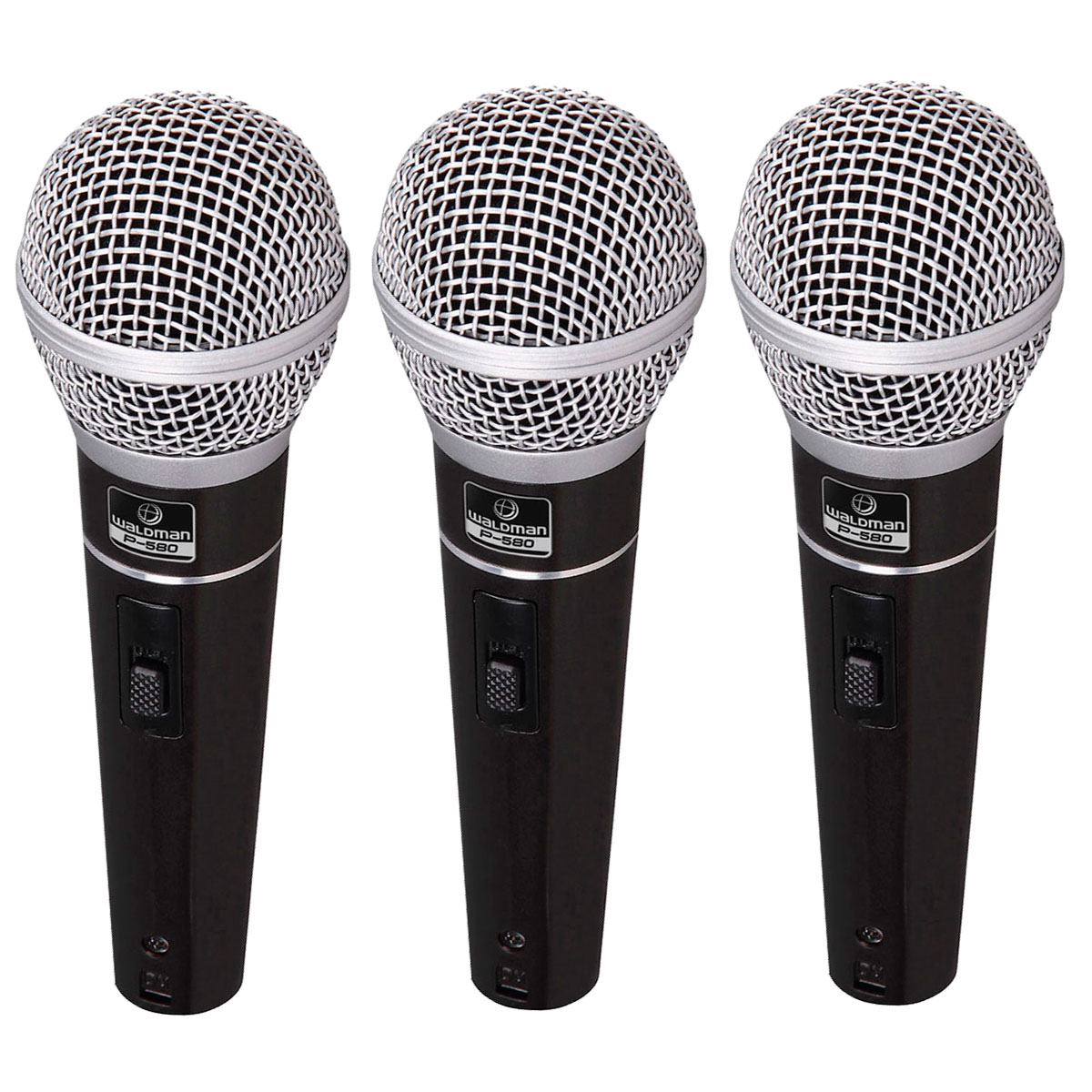 P5803PC - Kit 3 Microfones c/ Fio de M�o P 580 3PC - Waldman