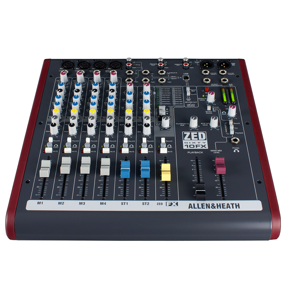ZED6010FX - Mesa de Som / Mixer 8 Canais USB ZED 60 10 FX - Allen Heath