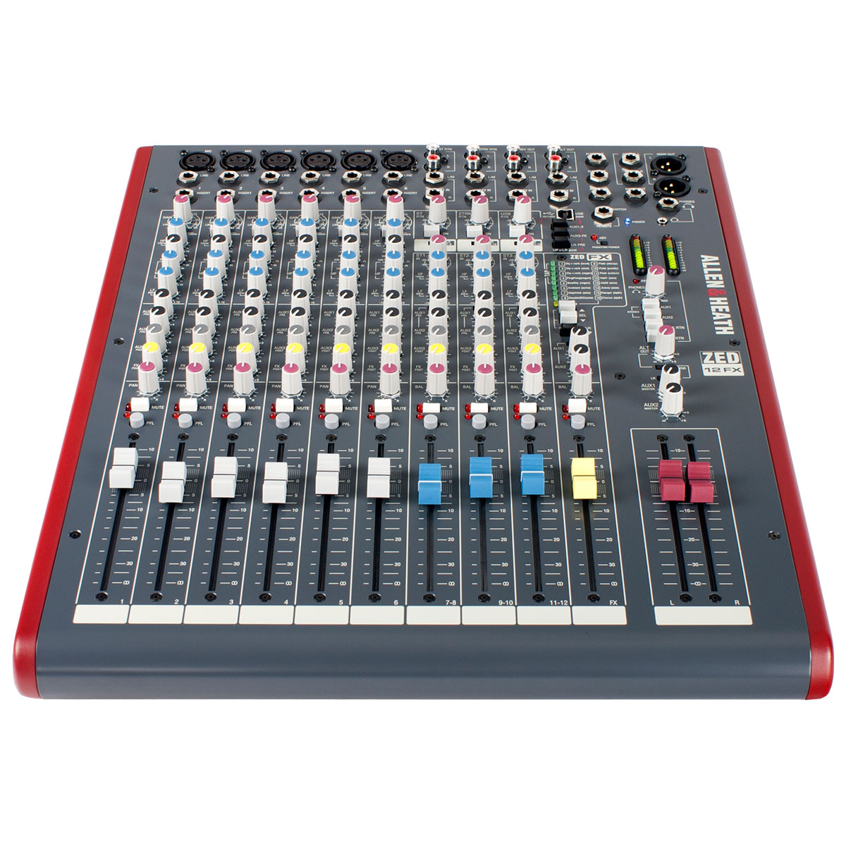ZED12FX - Mesa de Som / Mixer 12 Canais USB ZED 12 FX - Allen Heath