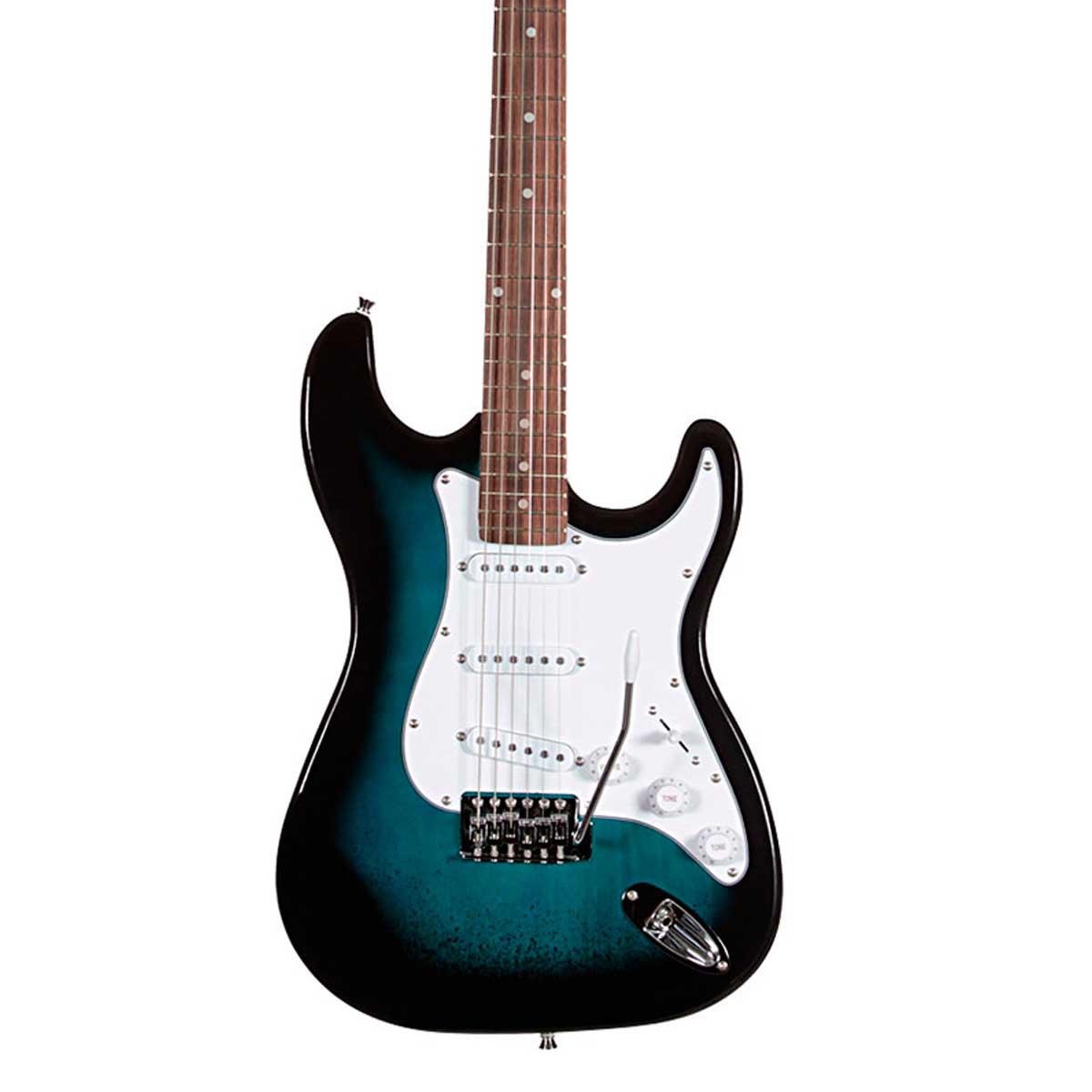 Guitarra ST111 Strato Street Azul Degradê ST 111 - Waldman