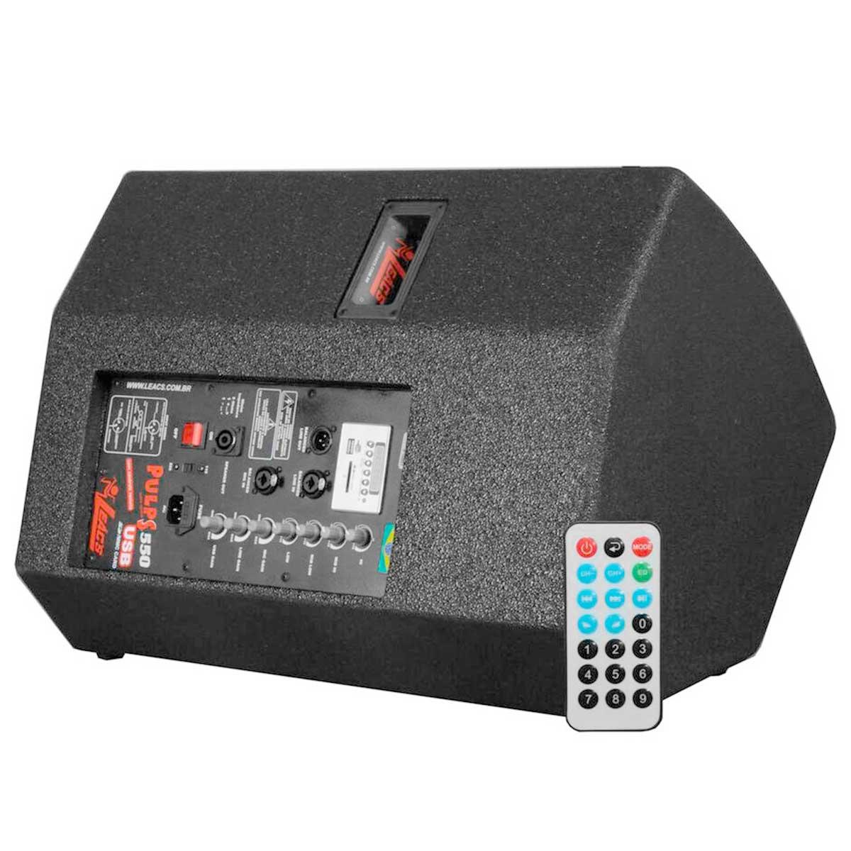 550A - Monitor Ativo 200W c/ Player USB Pulps 550 A - Leacs
