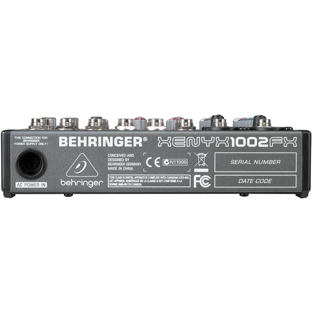 Mesa de Som / Mixer 10 Canais Xenyx 1002FX - Behringer
