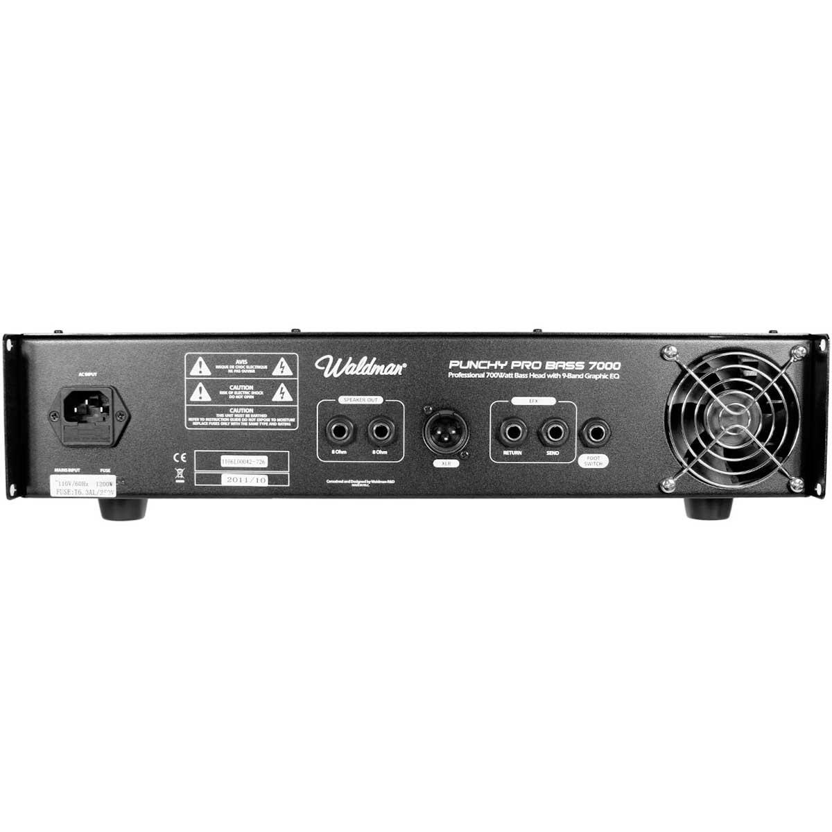 PPB7000 - Cabeçote p/ Contrabaixo Punchy Pro Bass PPB 7000 - Waldman