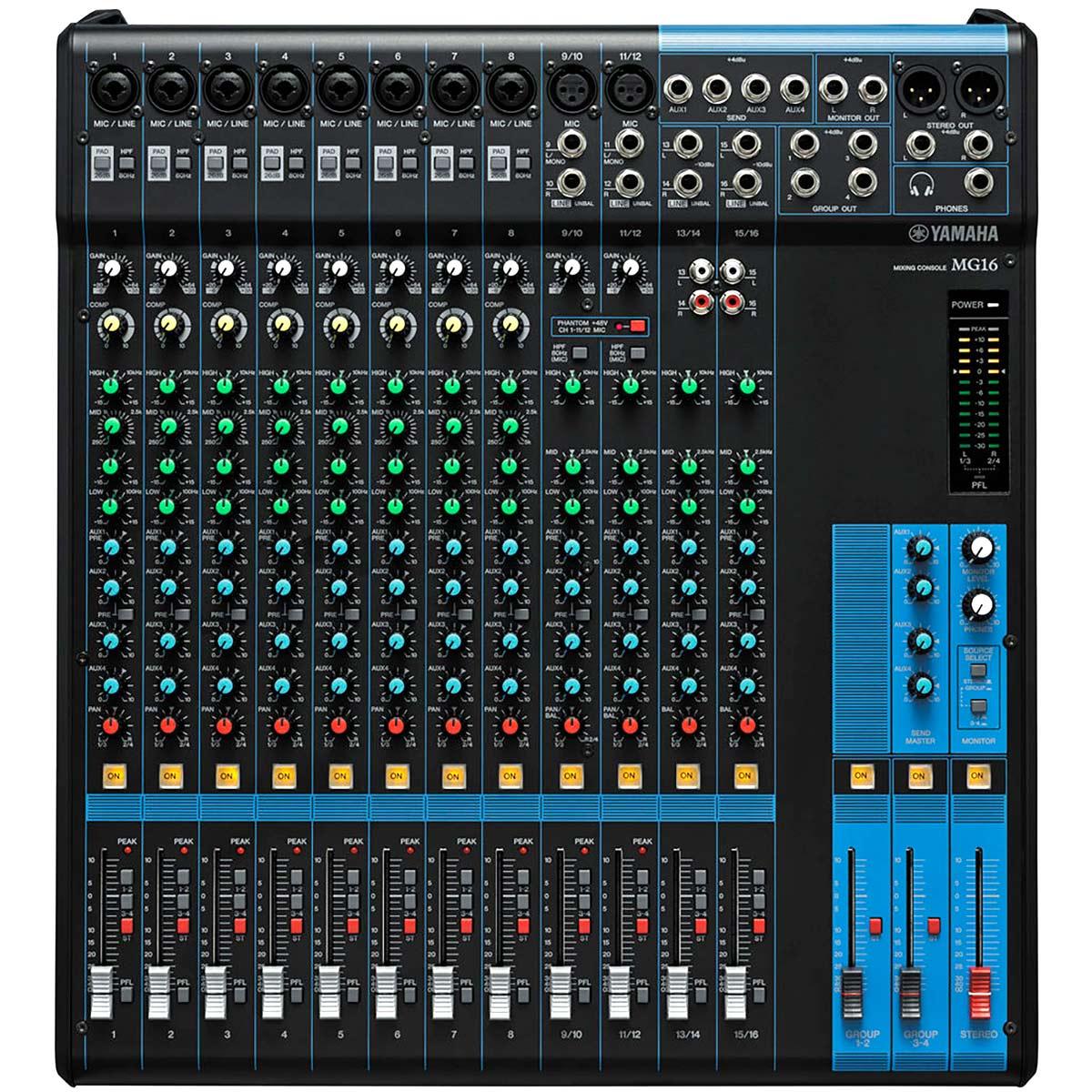 MG16 - Mesa de Som / Mixer 16 Canais MG 16 - Yamaha